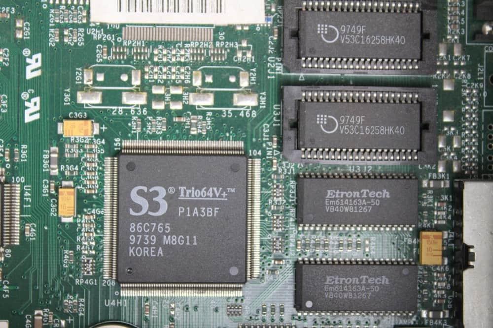 Zenith Data System Z-Station EL - grafický čip a jeho paměť 2MB