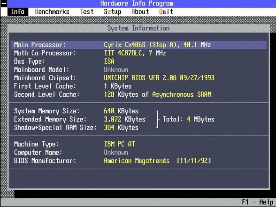 TI-486DLC-40MHz - Test s i387