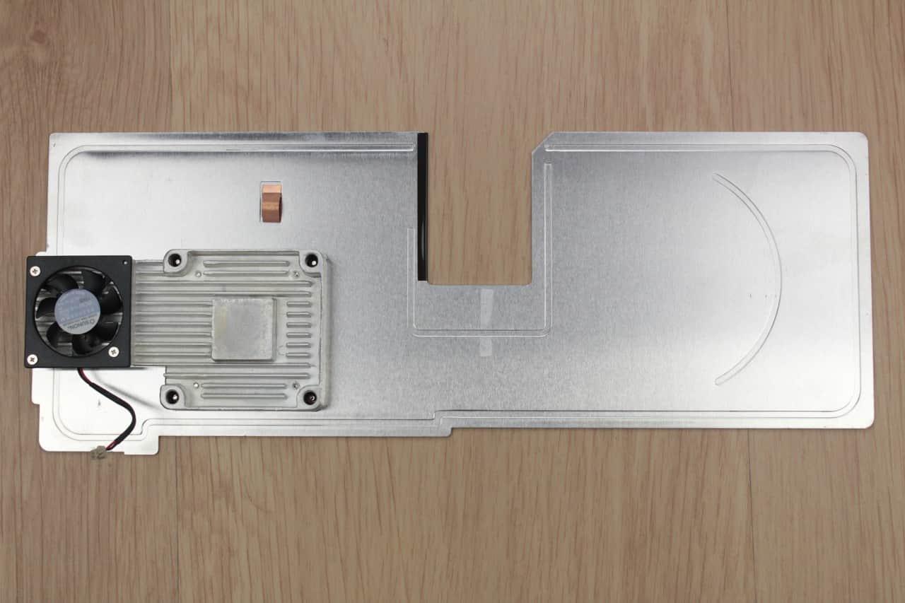 Chladič procesoru zespodu