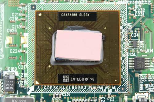 CPU je integrováno na základní desce