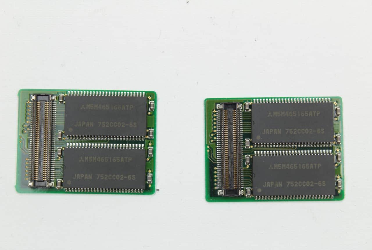 Nestandardní přídavná paměť RAM detail