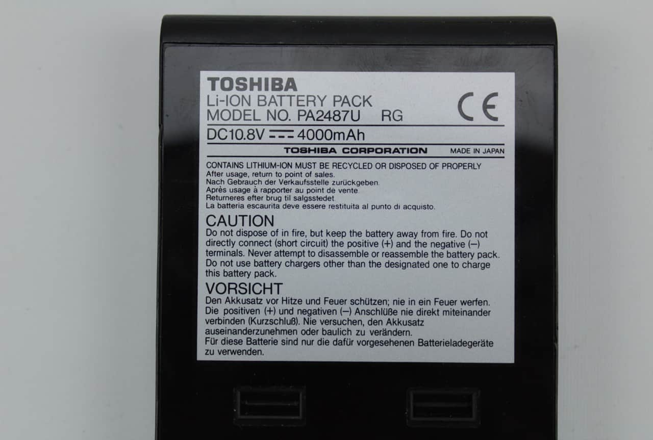 Baterie štítek