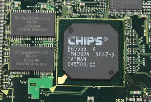 Grafický čip + část pamětí 1MB