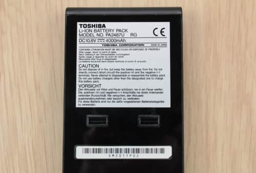 Štítek baterie
