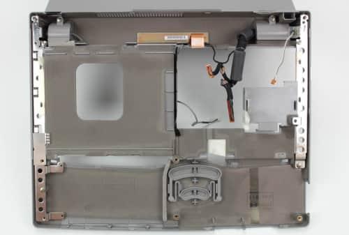 Vrchní kryt s LCD obráceně