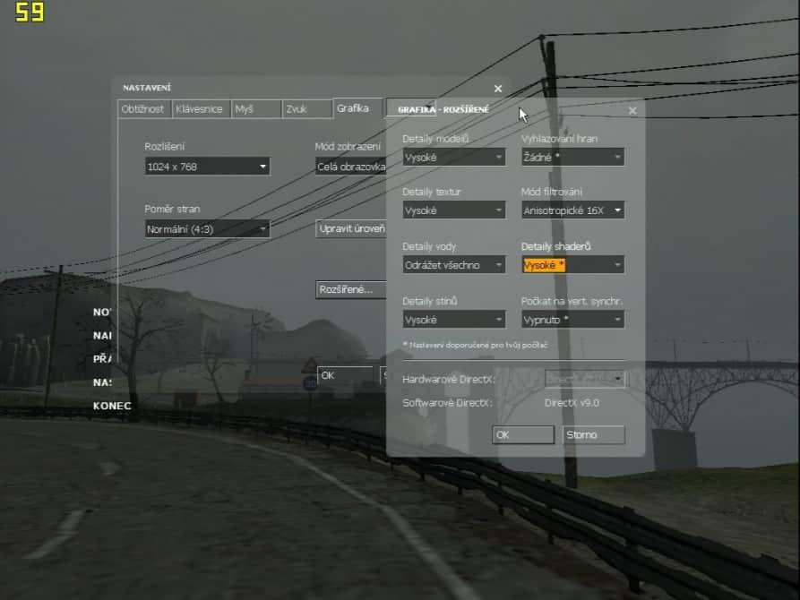 Half Life 2 (nastavení) - nVidia GeForce2 GTS 32MB DDR - Asus V7700 DELUXE