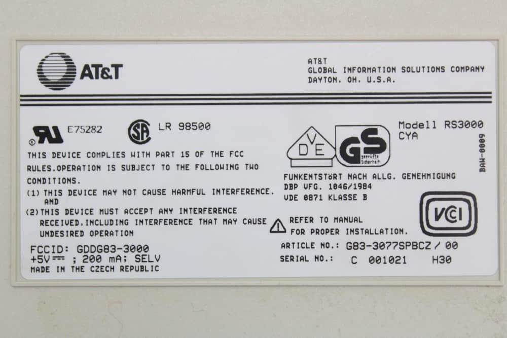 AT&T Globalyst 510 - Klávesnice štítek