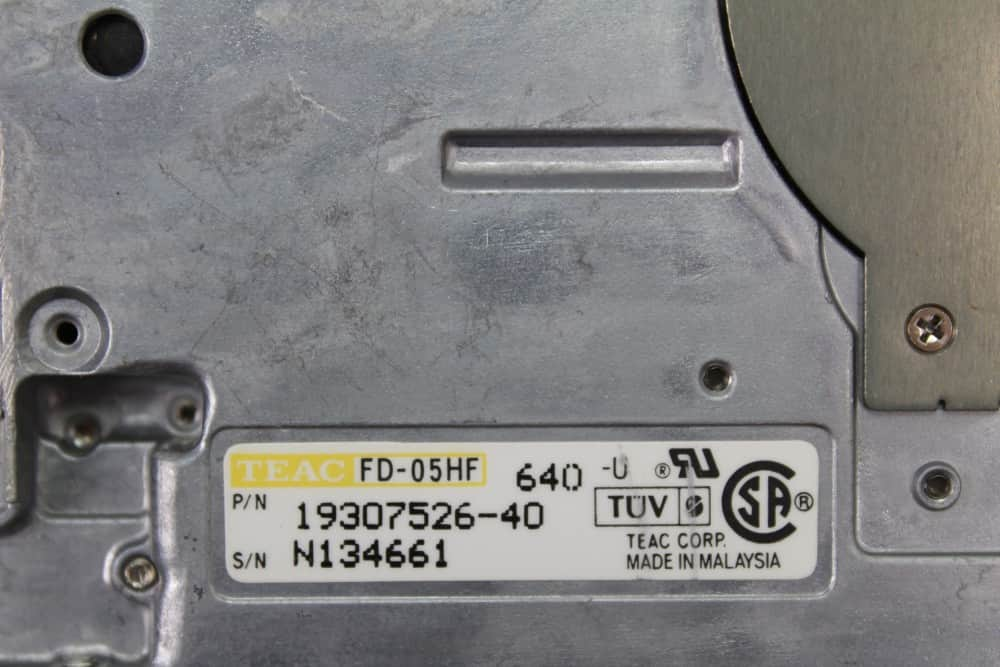 AT&T Globalyst 510 - Disketová mechanika štítek