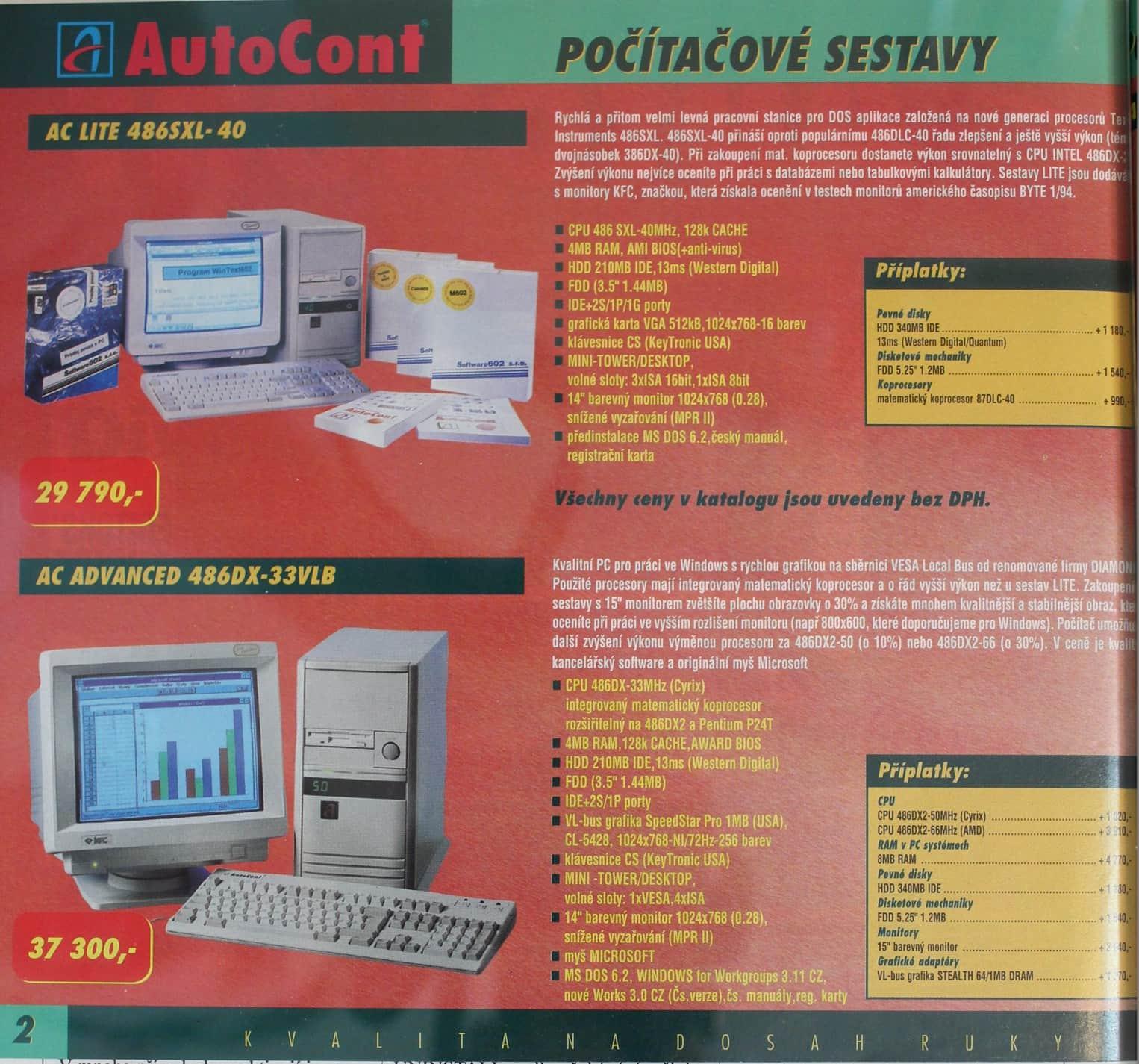 Autocont - katalog záři 94