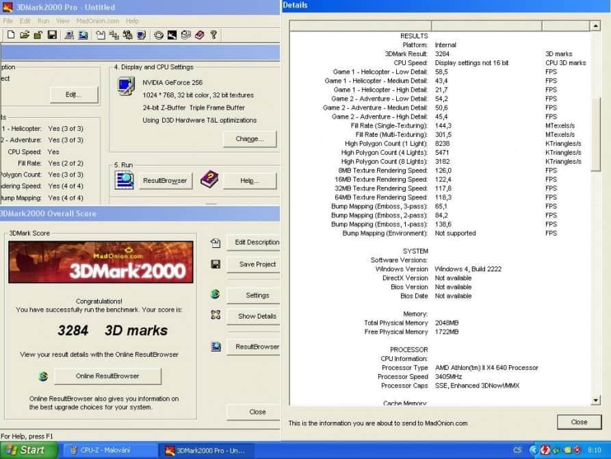 3D Mark 2000 - nVidia GeForce 256 32MB SDRAM - Creative CT6940