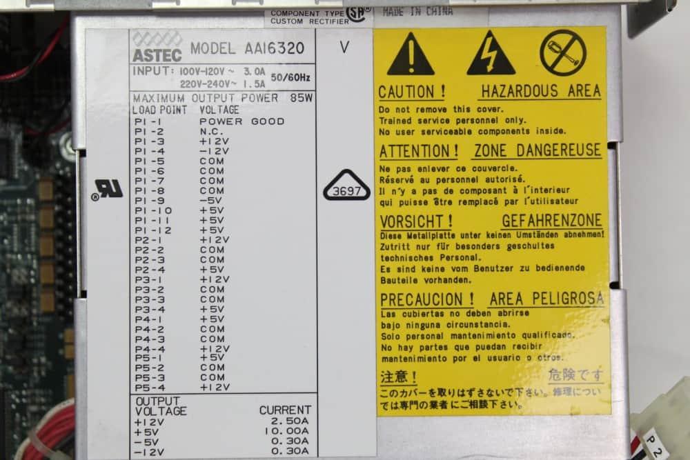 DELL 320SX - Zdroj