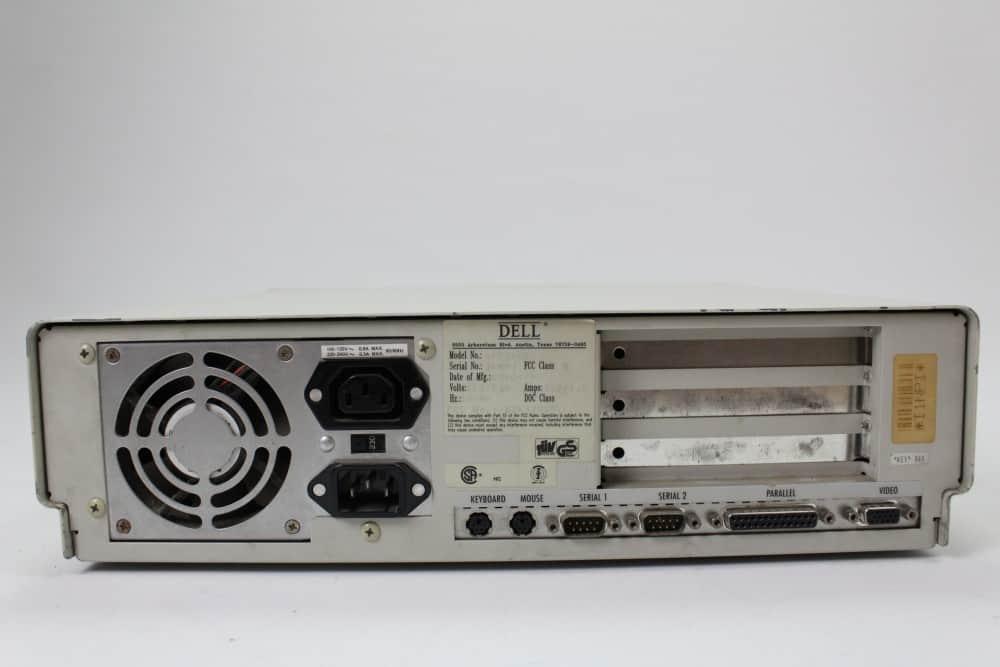 DELL 320SX - Zadní strana