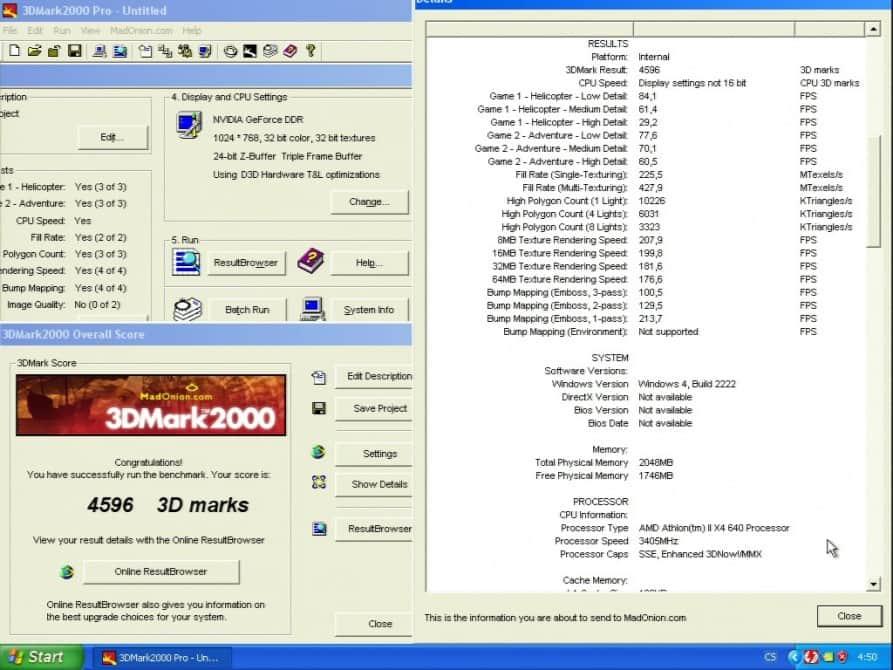 3D Mark 2000 - nVidia GeForce 256 32MB SGRAM - ELSA Erazor X2-A32