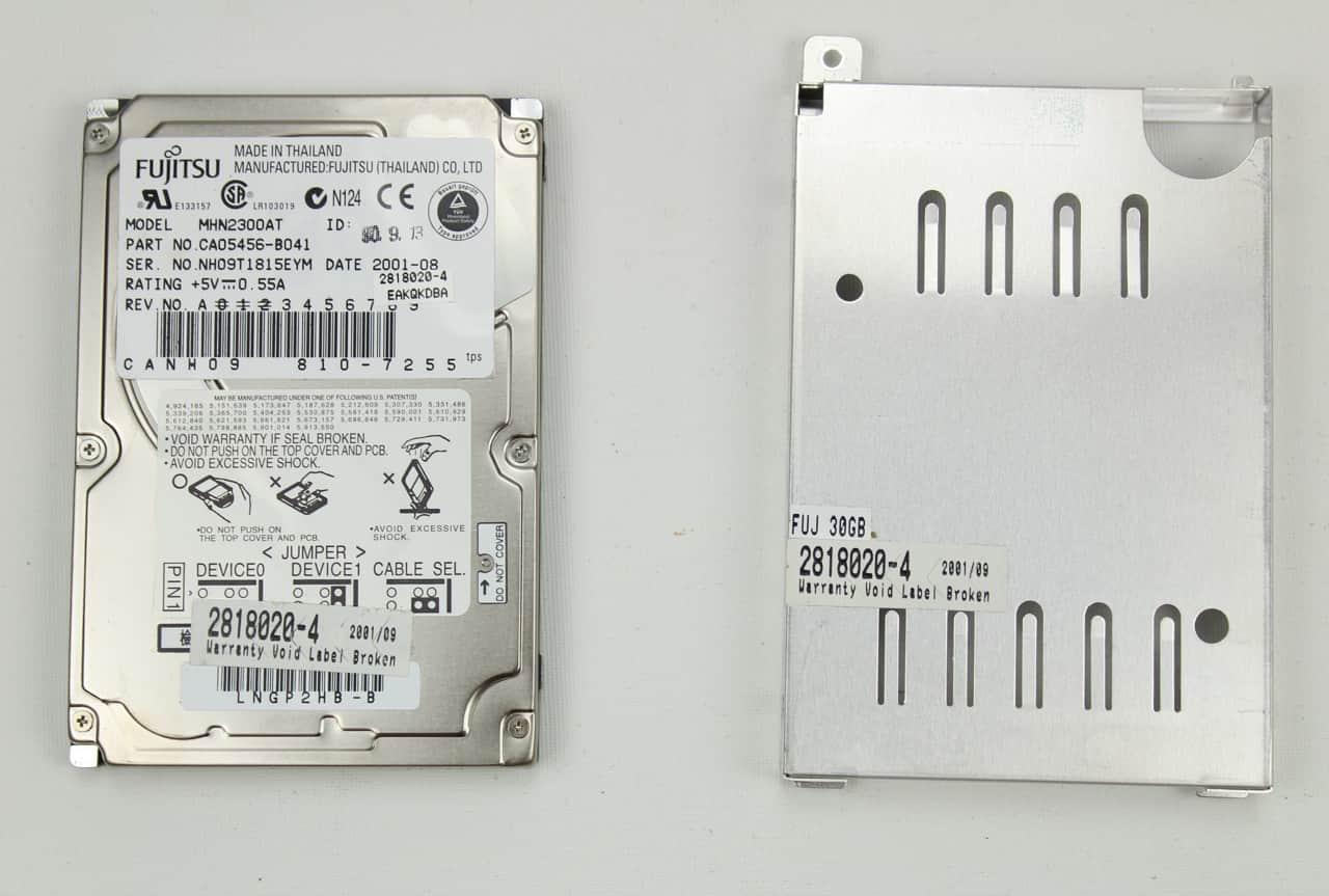 Pevný disk a rámeček