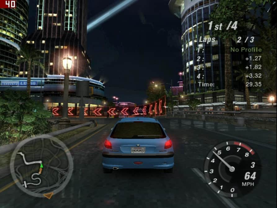 Need For Speed Underground 2 - nVidia GeForce2 TI 64MB DDR - Hercules 3D Prophet II TI