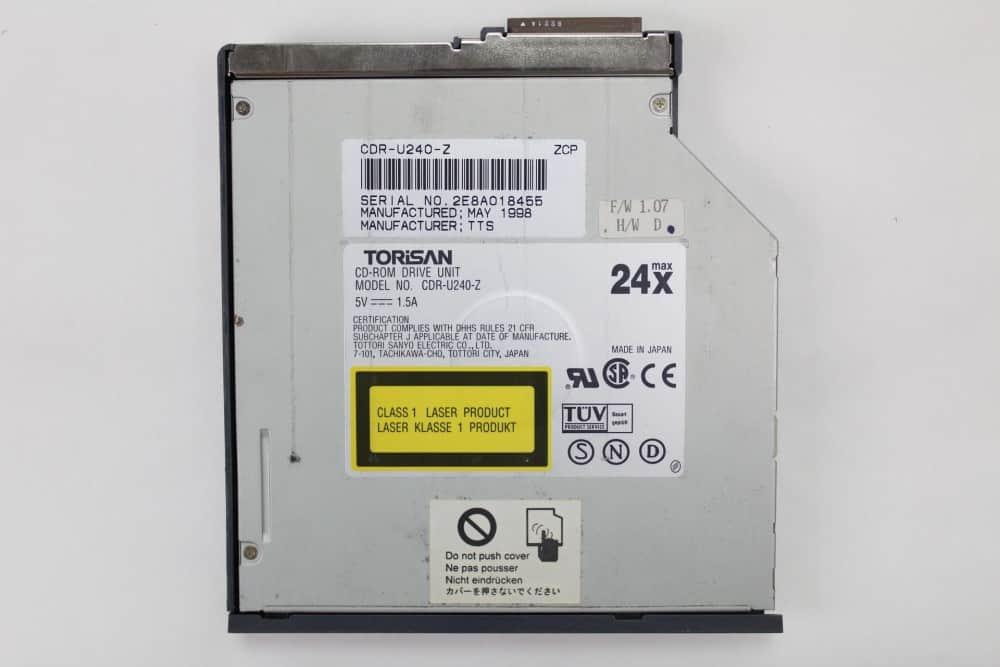 Hewlett Packard OmniBook 2100 - CD-ROM štítek