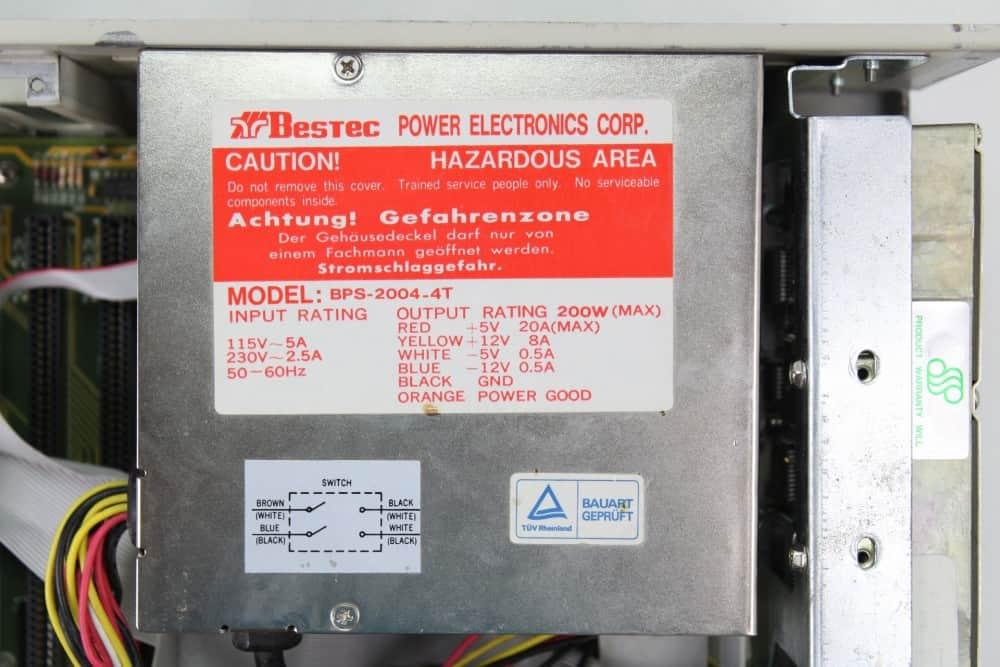 Highscreen Kompakt Serie-III 286 16MHz - Štítek na zdroji