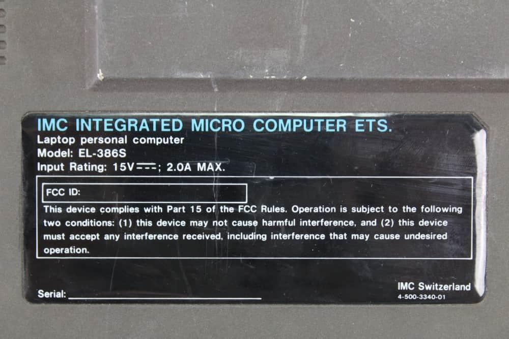 IMC-Excalibur-EL-386S - Štítek