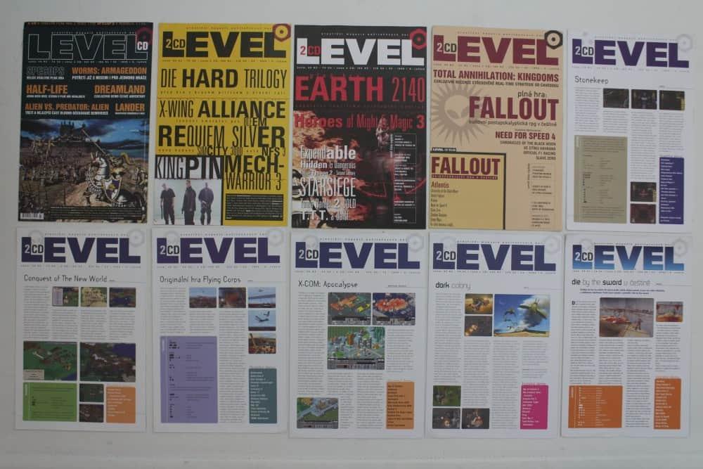 Level  03 až 12 - 1999 - složky k CD
