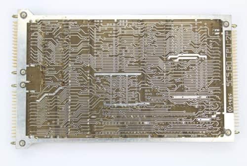 SCS 80 CPU-2P   je centrální jednotka tohoto stroje osazena mikroprocesor UA 880D (Z 80A) zezadu