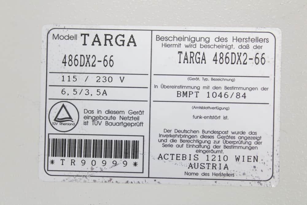 TARGA Series II - štítek na PC skříni