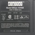 Štítek - Digital DECpc 425SE