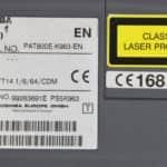 Štítek - Toshiba Tecra 8000