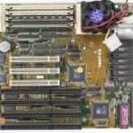 Základní deska FreeTech 486F55 v PC Pentium OverDrive na 83Mz