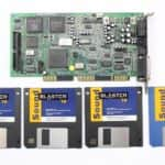 Sound Blaster 16 a instalační diskety - PC VUJO 286 na 25MHz
