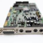 Sound Blaster zdířky a ovládání hlasitosti - PC VUJO 286 na 25MHz