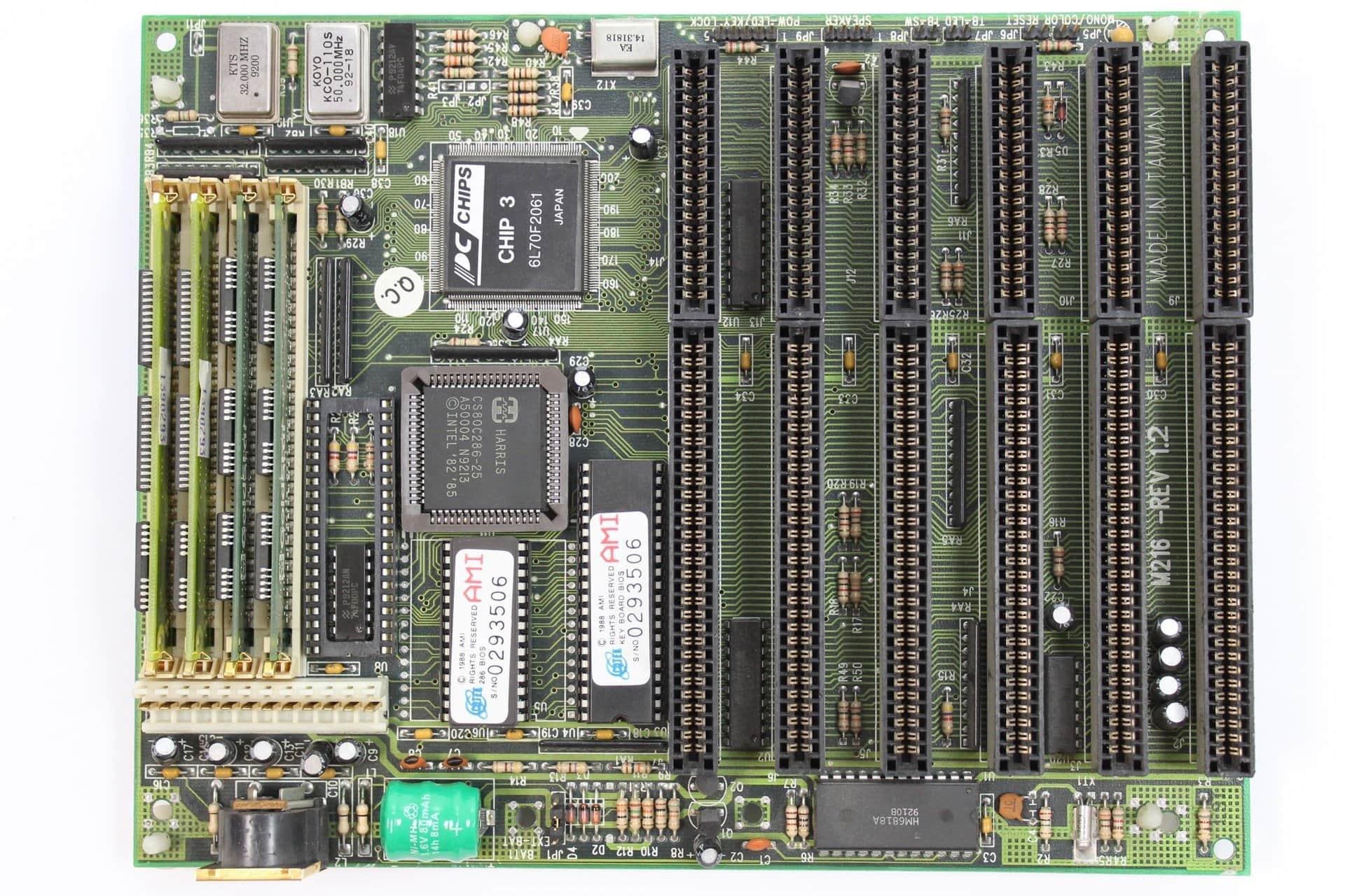 6f14e2d93 ... Základní deska PC Chips M216 - PC VUJO 286 na 25MHz ...