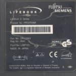 Štítek - Fujitsu Siemens Lifebook E-6634