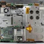 Odstraněn vrchní kryt + klávesnice - Fujitsu Siemens Lifebook E-6634