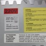 Štítky na zdroji - Olivetti M290-20