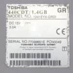 Štítek - Toshiba Satellite Pro 440CDT