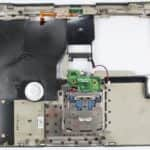 Vrchní kryt s touchpadem zespodu z - Compaq Armada M700