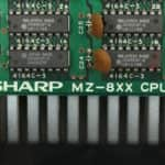Popis na základní desce - Sharp MZ-800