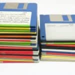Vlevo hry a pravo užitkové programy - Sharp MZ-800