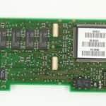Část paměti RAM + konektory pro rozšíření a přelepený procesor 486 - Olivetti Echos 44 Color