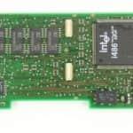 Část paměti RAM + konektory pro rozšíření a procesor 486 - Olivetti Echos 44 Color