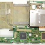 Druhá část základní desky, co je pod základní deskou - Toshiba T4900CT