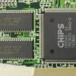 Grafický čip + její 1MB RAM - Toshiba T4900CT