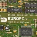 Logo na základní desce - Schneider EURO PC II