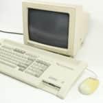 Počítač, monitor a myš zprava - Schneider EURO PC II