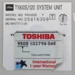 Toshiba T1900s - Štítek