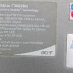 Acer TravelMate C300 - Štítek s parametry