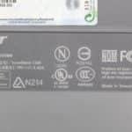 Acer TravelMate C300 - Štítek