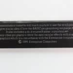 Enterprise 128 - Úvodní kazeta popis