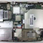 Odstraněn chladič procesoru - Toshiba Satellite 2180CDT