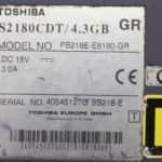 Štítek - Toshiba Satellite 2180CDT